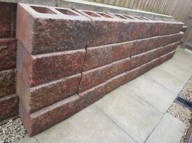 New Unused Large Rustic Cementless Garden Feature/Planter Bricks