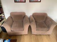 Next Sofa Set - Mink Brown (2x Sofa & 2x Armchair)
