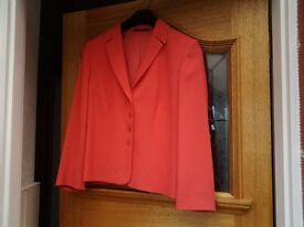 Mother of the bride. Salmon pink jacket and skirt. Worn once was £300 new. Libra