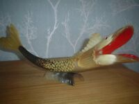 VINTAGE GENUINE HORN FISH ORNAMENT