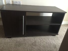 Dark brown tv cabinet