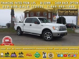 2011 Ford F-150 XLT-CleanCarproof-Bluetooth-TowHitch-SideSteps-A