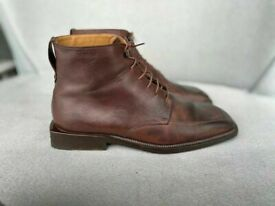 Louis Vuitton boots in brown leather, size 9, rrp £920