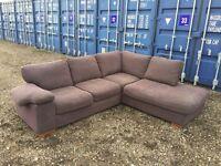 Bargain Genuine Italian Large Corner Sofa V.G.C. Free Delivery In Norwich.