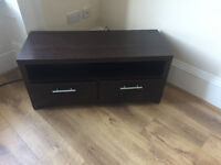 TV Table/Stand - dark wood finish with two handy drawers.