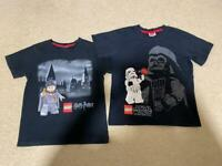 Lego Harry Potter, Star Wars t-shirts 7-8 years