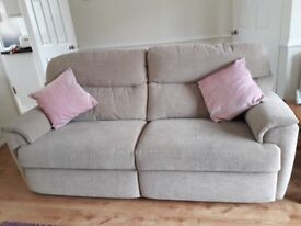 3 SEATER STATIC SOFA AND 2 ELECTRIC RECLINER CHAIRS