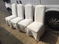 4 x Multi York Dining Chairs (removable and washable covers)