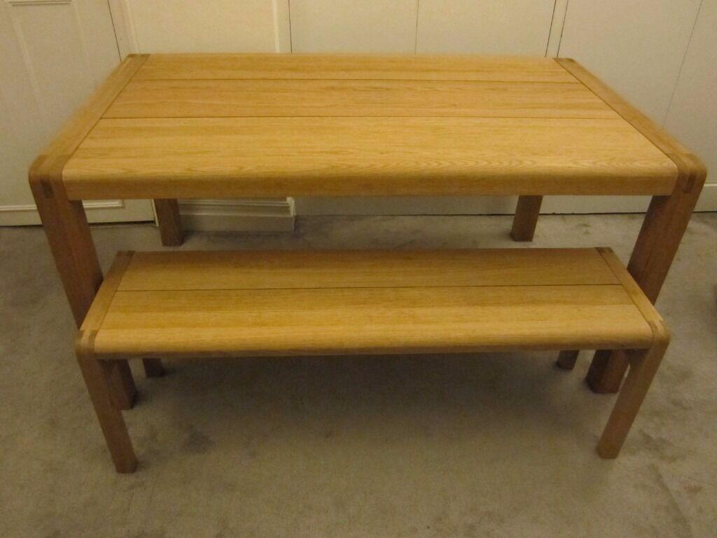 habitat radius dining set (table and bench)simon pengelly