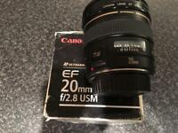 Canon EF 20mm f/2.8 USM lens DSLR EOS