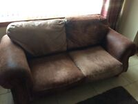 Leather 2 seeter sofa and armchair