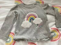 18-24 months rainbow grey top
