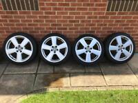 Audi wheels with Vrdestein wintrac tyres