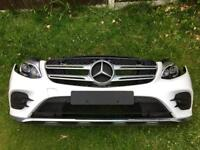 2017 MERCEDES W253 GLC ESTATE/COUPE BUMPER, FRONT PANEL, LED HEADLIGHTS FRONT END PARTS ETC..