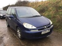 2004 DIESEL PEUGEOT 807 WITH ALLOYS CD AIR 8 SEATER FAMILY CAR IN VGCONDITION LOVELY BIG VOLUME CAR