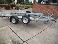 Woodford Car Trailer/Transporter for Smart/Small Car, 3 years old hardly used with extras.