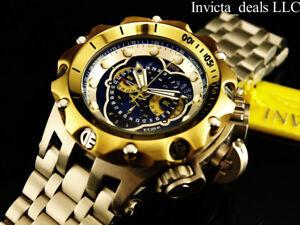 Invicta Mens 52mm Reserve Venom Hybrid Swiss Chronograph Blue Dial Silver Watch
