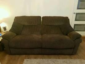 Brown 3 seater & 2 seater sofa
