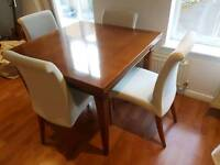 **Urgent** Solid wood extending dining table with 4 chairs