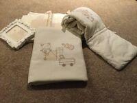 Nursery Bedding Set with Curtains Mamas and Papas Bedtime Hugs