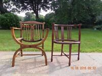 A selection of Caned Chairs and upholstered