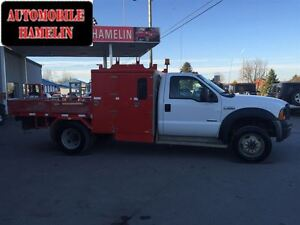 2007 Ford F-550 CHASSIS CAB XL 6x6 plate forme aluminum avec cof