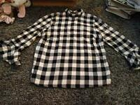 Black and white checked top