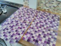 Purple Glass Tiles
