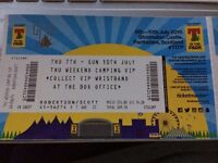 2 T In The Park VIP Thursday- Sunday Camping Tickets