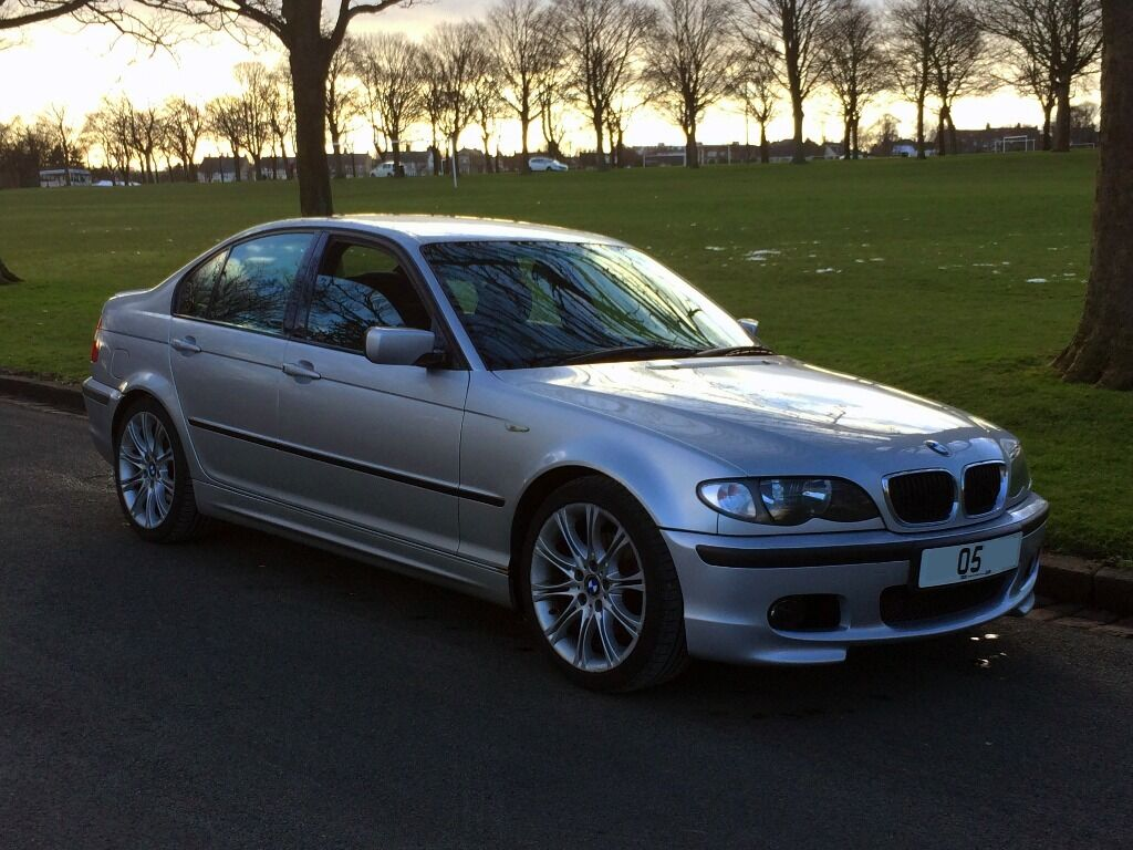 2005 bmw 320d m sport silver facelift alcantara e46 6 spd 2 0 tdi 520d turbo diesel mint hpi. Black Bedroom Furniture Sets. Home Design Ideas