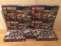 Collection of brand new and sealed discontinued Lego Teenage Mutant Ninja Turtles sets. From £35