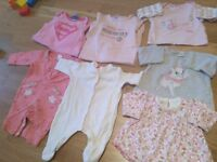 Baby Girl Cloths 0-3 Months 30 items
