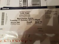 2 x Lady Gaga (Joanne Tour) Tickets @ Manchester Arena
