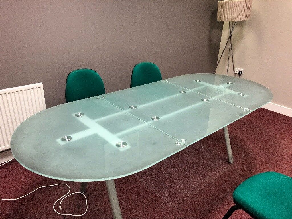 Large Glass Boardroom Table In Salford Manchester Gumtree - Glass boardroom table