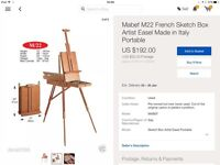 Artist's easel. Mabef / 22 French wooden sketching and painting easel