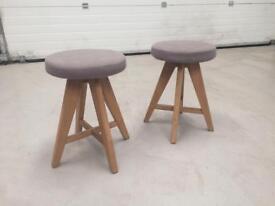 Oak stools x2