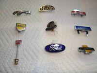 collectable car lapel badges