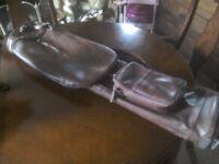 Vintage leather golf bag