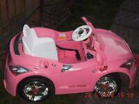 girls pink battery car