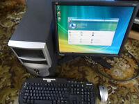 """Desktop PC Multimedia, AMD 64 LE-1600 & 19"""" LCD TFT screen"""