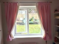 """Next Pink Polka Dot fully lined curtains 135cm x 137cm (53"""" x 54"""")"""