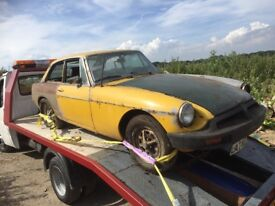 MGB GT. 1980 breaking for spares, BARN FIND everything available . Cheap prices.