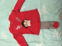 Next Christmas top with tights