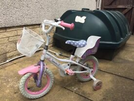 Childs bicycle suitable for age up to 6