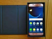 Samsung galaxy S7 edge 32gb Gold Pink Unlocked Like New Condition