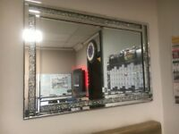 Crushed Diamond Mirror various sizes available