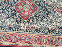 Beautiful Traditional Blue and Red Persian 100% Wool Rug