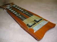 VINTAGE VERY RARE DOUBLE NECK SIX STRING LAP STEEL SLIDE GUITAR.