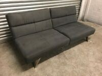 FREE DELIVERY GREY FABRIC CLIC CLAC SOFA BED GOOD CONDITION