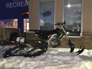 2013 Whitecap Recreation HONDA CRF 450 SNOWBIKE TIMBERSLED
